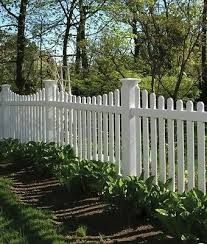 4x8 Pvc Vinyl Denville Traditional Spaced Picket Scallop Top Fence Panel
