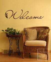 Welcome Wall Decal Welcome Vinyl Wall Lettering Decal Etsy