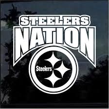 Steelers Nation Window Decal Sticker Custom Sticker Shop