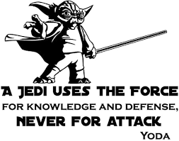 Wall Decal Quote Vinyl Sticker Star Wars Yoda Quotes A Jedi Uses The Force For Knowledge