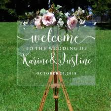 Amazon Com Wedding Decoration Welcome Sign Sticker Personalized Couples Names And Dates Mirror Decal Bridal Shower Custom Vinyl Decal Home Kitchen
