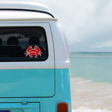 Crab Beach Ocean Personalized Window Decal Bumper Sticker Car Window Decal Vinyl Car Decal Yeti Tumbler Decal Wall Decal Laptop Decal Peel And Stick Vinyl Decals