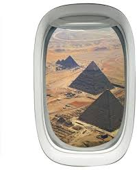 Vwaq Airplane Window View Wall Decal Pyramids Sky View Peel And Stick Aviation Contemporary Wall Decals By Vwaq Vinyl Wall Art Quotes And Prints