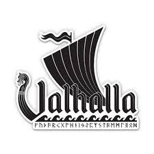 Valhalla Ship 8 Vinyl Sticker For Car Laptop I Pad Waterproof Decal Walmart Com Walmart Com