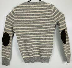 j crew lambs wool sweater leather