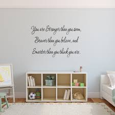 Vwaq You Are Stronger Inspirational Wall Decal Quote Vinyl Wall Art De