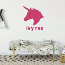 Unicorn Wall Decal Silhouette Vinyl Decor Wall Decal Customvinyldecor Com