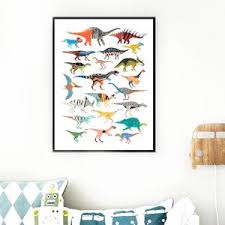 Dinosaur T Rex Triceratops Dinosaur Kids Room Wall Picture Gallery Wallrus Free Worldwide Shipping