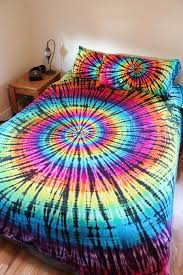tie dye sheet set 100 cotton rainbow
