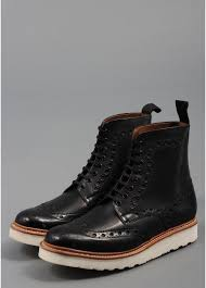 grenson fred vibram leather boots