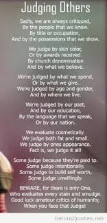 quotes about family judging quotes