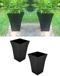 1 x large black milano tall planter