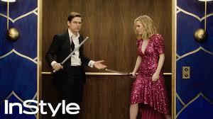 Rachel Brosnahan & Jason Ralph   2020 Golden Globes Elevator ...
