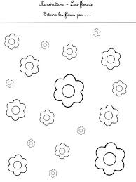 fleurs en maternelle