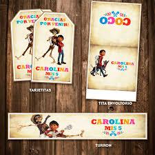 Kit Imprimible Coco Disney Pixar Cumpleanos Personalizado 600