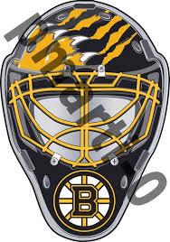Boston Bruins Front Goalie Mask Vinyl Decal Sticker 5 Sizes Sportz For Less