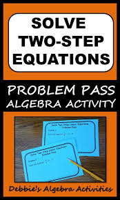 solve two step linear equations
