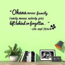 Ohana Means Family Vinyl Wall Decal Family Means Nobody Gets Etsy