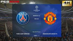 PES 2019 (PC) PSG vs Manchester United | UEFA CHAMPIONS LEAGUE ROUND OF 16  | 6/3/2019