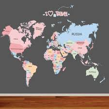 Creative Colorful English World Map Letter Sticker Diy Vinyl Wall Stickers Kids Room Home Decor Art Decals 3d Wallpaper Vinyl Wall Stickers Wall Stickerwall Sticker World Aliexpress
