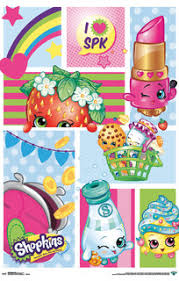 Shopkins Collage Poster Contemporary Kids Wall Decor By Trends International