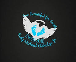 Amazon Com Celycasy Infant Loss In Loving Memory Vinyl Decal Too Beautiful Baby Memorial Decal Car Decal Phone Decal Craft Decal Customizable Personalize Home Kitchen