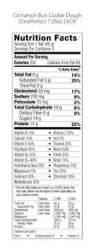 zoneperfect nutrition bar cinnamon bun
