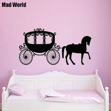 Mad World Princess Horse And Carriage Silhouette Wall Art Stickers Wall Decal Home Diy Decoration Removable Decor Wall Stickers Wall Sticker Decorative Wall Stickerswall Art Stickers Aliexpress