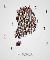 Large Group Of People In South Korea ...