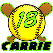 Mecabrush Personalized Vinyl Decals And Custom Airbrush Personalized Softball Over Crossed Bats Decal Dec Bs 062 Yellow