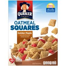 quaker oatmeal squares cereal pack of