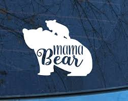Mama Bear Car Decal Etsy