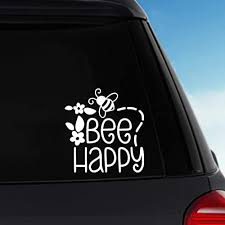Amazon Com Bee Happy Vinyl Sticker Decal Car Decal Laptop Decal Handmade