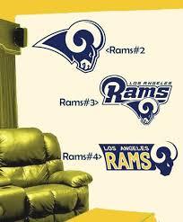 La Los Angeles Rams Designs 2 3 4 Vinyl Decal For Your Car Etsy