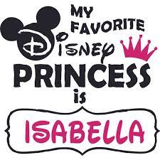 My Favorite Disney Princess Crown Customized Wall Decal Custom Vinyl Wall Art Personalized Name Baby Girls