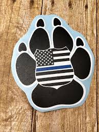 K9 Car Decal Police K9 Decal Thin Blue Line Car Decal Etsy Police K9 Dog Car Custom Car Decals