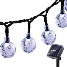 copper wire fairy lights solar powered