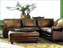 distressed brown leather couch