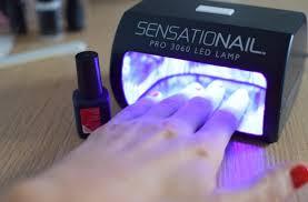 gel nails at home using sensationail