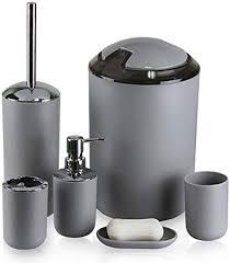 black gray bathroom accessories