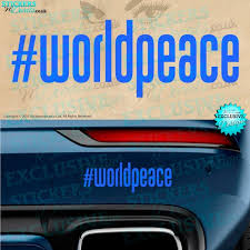 New World Peace Bumper Sticker Car Decal Window Graphic Etsy