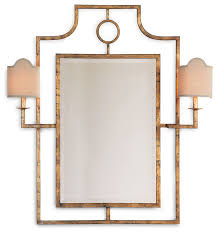 doheny hollywood regency bamboo mirror