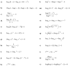 logarithmic equations and inequalities