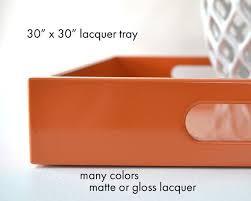 30 x 30 square oversized ottoman tray