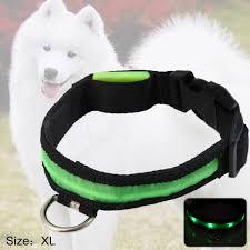 Led Light Point Pet Collar Green Light Sale Price Reviews Gearbest