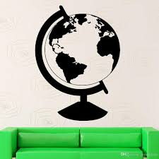 Globe Wall Sticker For Living Room Earth Vinyl Decal Bedroom Geography Travel Decor School Modern Home Decoration Art Mural Floral Wall Decals Floral Wall Stickers From Joystickers 12 66 Dhgate Com