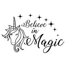 Amazon Com Face Unicorn Wall Decals Unicorn Decals Quote Believe In Magic Pony Wall Art Animal Decor Horse Vinyl Stickers Bedroom Decor Nursery Wall Decor Nl170 Handmade