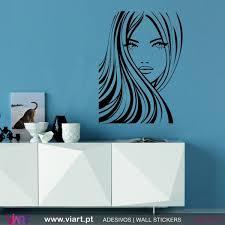 Beautiful Woman S Face Wall Stickers Wall Art Viart