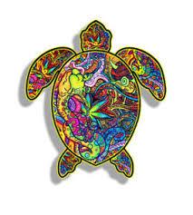 Graffiti Colorful Sea Turtle Sticker Beach Cup Laptop Car Vehicle Window Decal Ebay
