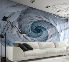 blue swirls abstract design giant wall